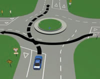 Picture of a mult-laned roundabout