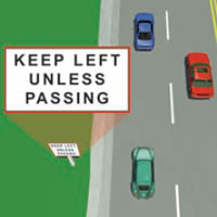 Picture of a passing lane