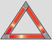 Picture of a warning triangle